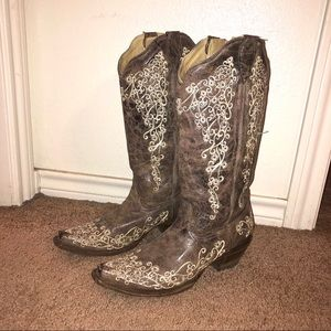 """Corral Handcrafted """"Lisa"""" Embroidered Cowboy Boots"""